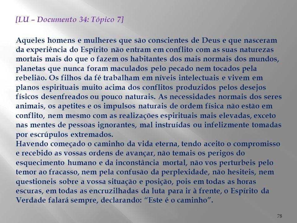 [LU – Documento 34: Tópico 7]